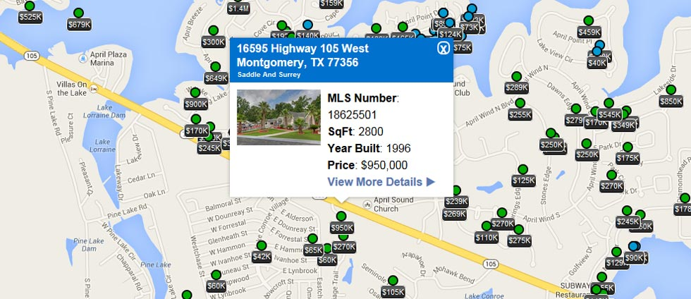 Search Lake Conroe MLS